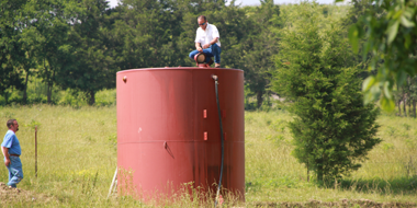 Oil holding tank at Homeland Energy